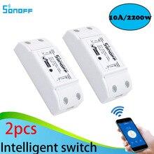 wifiスイッチ 220ボルトviaアンドロイドios 2ピースsonoffスマートホームワイヤレスインテリジェントリモコン製品itead共有タイマーdiy