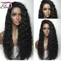 8A Encaracolado Sem Cola Cheia Do Laço Peruca de Cabelo Humano Não Transformados Virgem Humano Glueless cabelo Peruca Cheia Do Laço Para As Mulheres Negras peruca De Alta Densidade