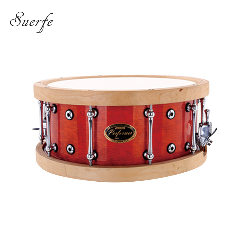 Professional Birch Snare Drum Polyester Drumhead 14*6.5 Inch Wooden Hoops Drum Percussion musical instruments 14 inch double tone afanti music snare drum sna 109 14
