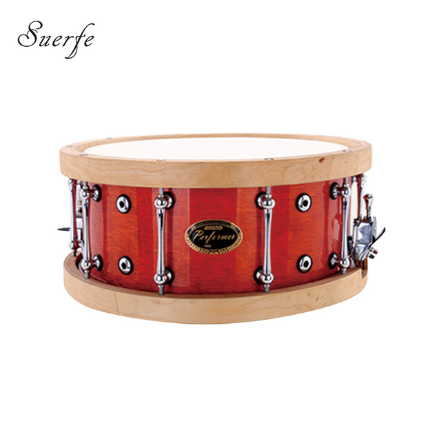 Professional Birch Snare Drum Polyester Drumhead 14*6.5 Inch Wooden Hoops