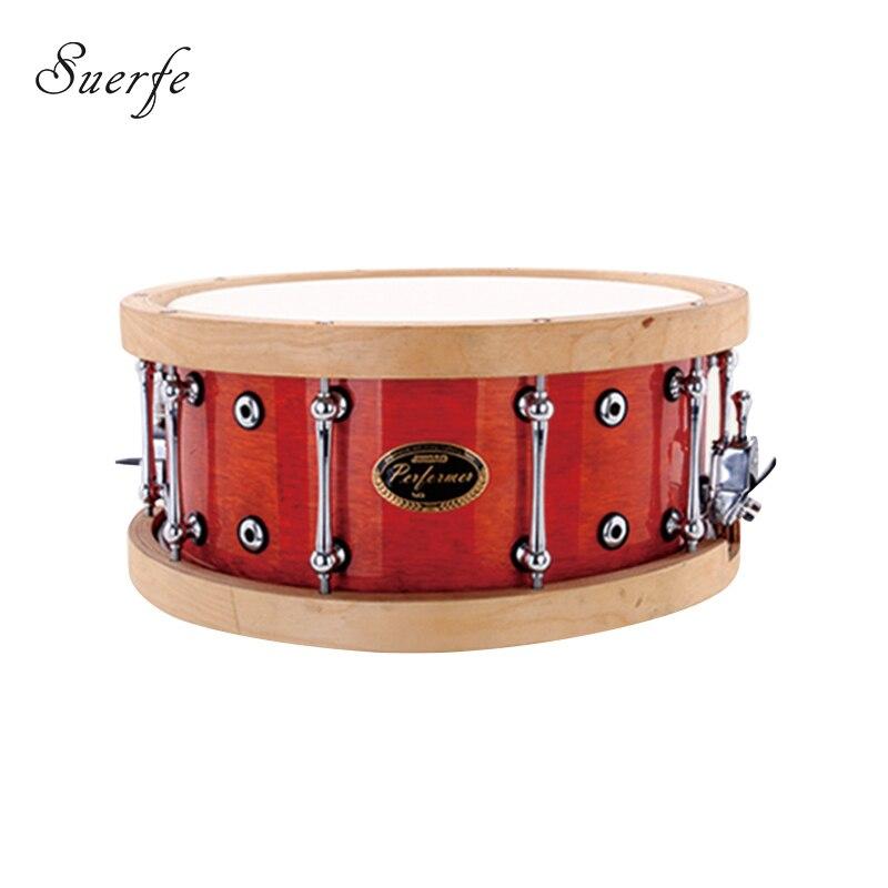 suerte professional snare drum polyester drumhead 14 6 5 inch wooden hoops drum instrumentos. Black Bedroom Furniture Sets. Home Design Ideas