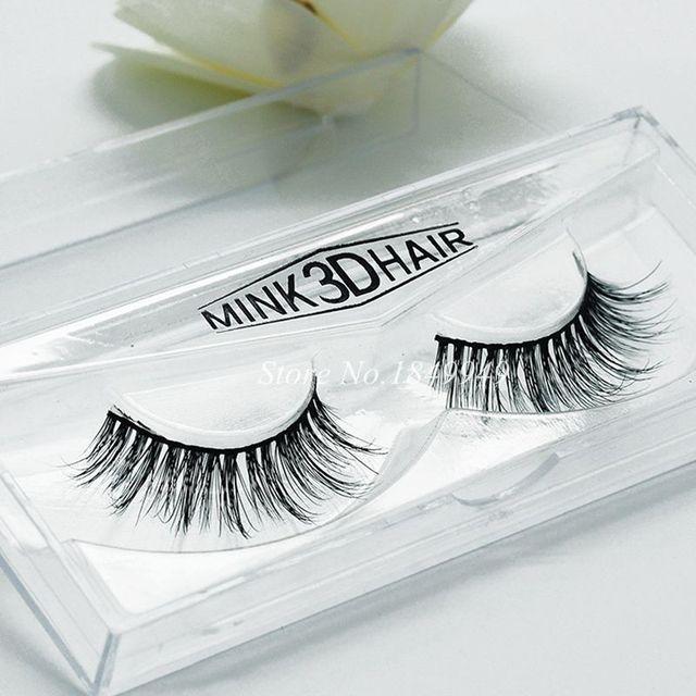 Natural Long Mink 3d False Eyelashes 1 Box 1 Pair Packages