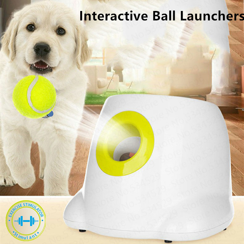 iFetch Interactive Tennis Launchers for Dogs utomatic throwing machine pet Ball throw device Section emission with 3 balls-in Dog Toys from Home & Garden    1