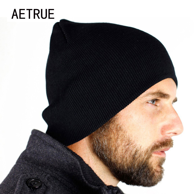 New   Beanies   Men Hat Winter Hats For Men Women Knit Hat Caps Skull Brand Bonnet Casual   Skullies   Warm Cap Black Winter   Beanie   2018