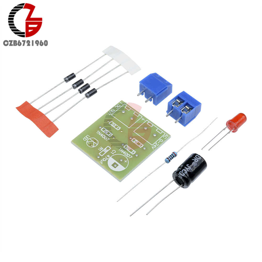 hight resolution of  in4007 full wave bridge rectifier diy kits ac dc converter full wave rectifier circuit board kit