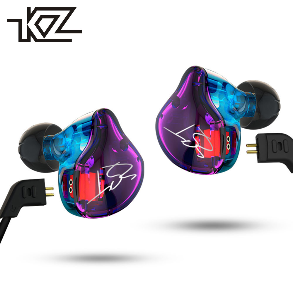 KZ ZST Hybrid Armature+Dynamic Driver In Ear Earphone HIFI DJ Bass Running Sport Earphones Earplug Headset Earbud PK KZ ZS5