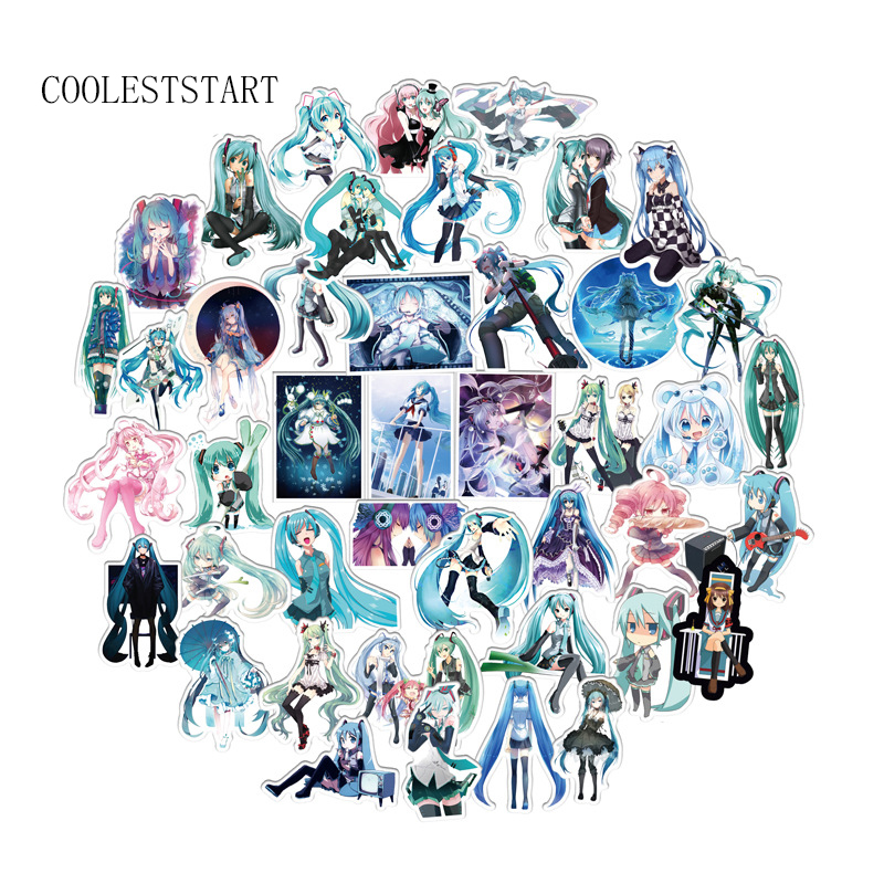 100 Pcs/Lot Cute Cartoon Anime Hatsune Miku Stickers For Luggage Laptop Notebook Skateboard Bicycle Car Waterproof Toy Sticker100 Pcs/Lot Cute Cartoon Anime Hatsune Miku Stickers For Luggage Laptop Notebook Skateboard Bicycle Car Waterproof Toy Sticker
