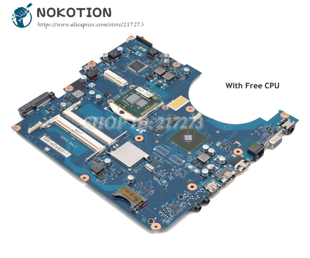 NOKOTION For Samsung NP-R580 R580 Laptop Motherboard HM55 DDR3 GT310M Graphics Free CPU BREMEN-M BA92-06132A BA92-06132B