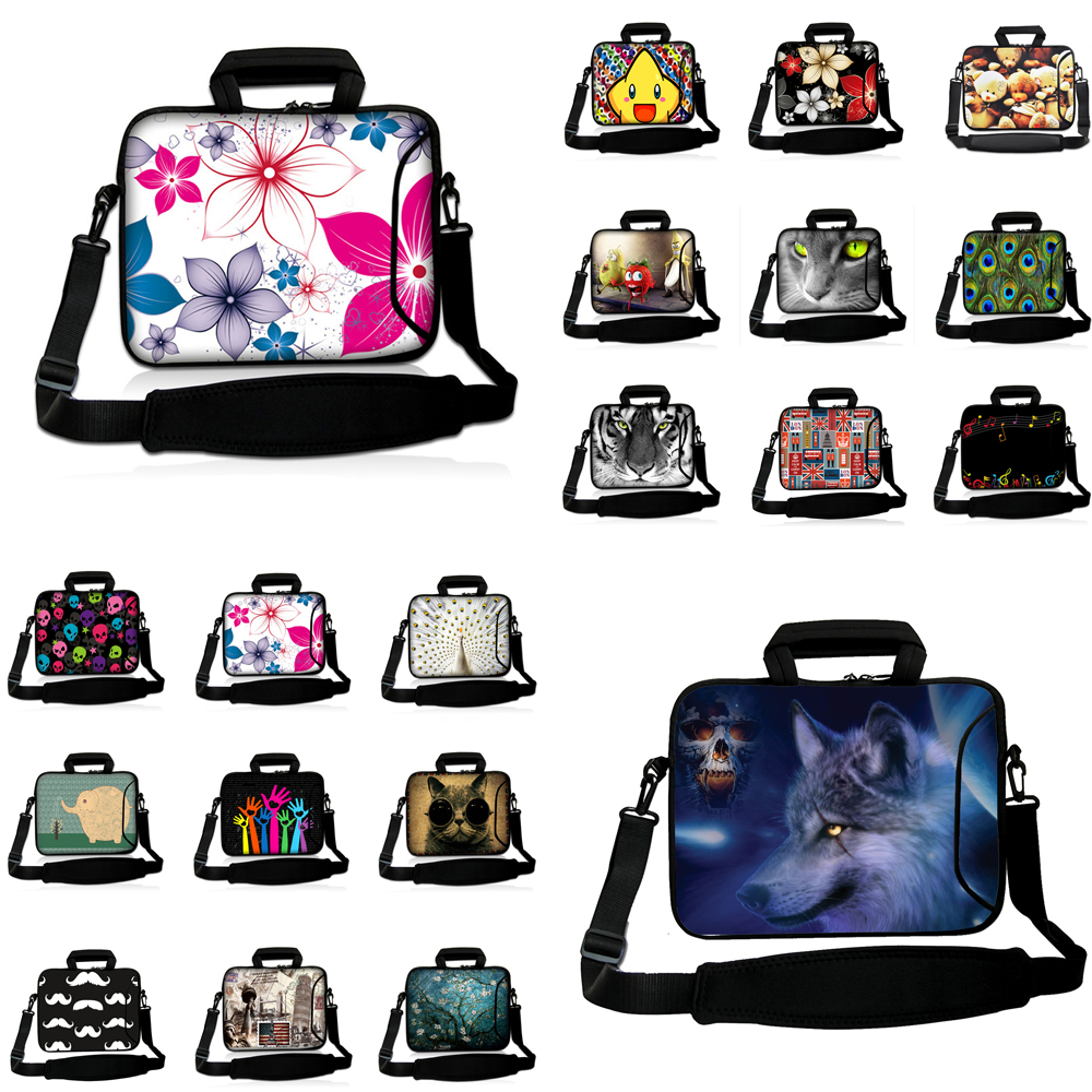 Viviration Waterproof Affordable Neoprene Messenger Shoulder Bag Carry Handle Case For 10/12/13/14/15/17inch Acer Sony Macbook image