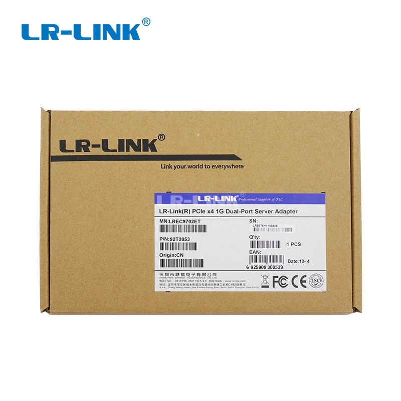 Image 5 - LR LINK 9702ET Dual Port PCI Express Network Card 1gb Gigabit Ethernet Network Adapter Server Intel 82576 E1G42ET Compatible NIC-in Networking Storage from Computer & Office