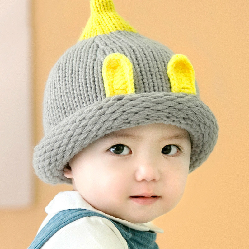 Frank Knit Winter Hat Baby Beanies Baby Hat Boy/girl Warm Baby Cap Children Skullies Beanies Bucket Hat Costume Props Holiday Cap Beneficial To The Sperm