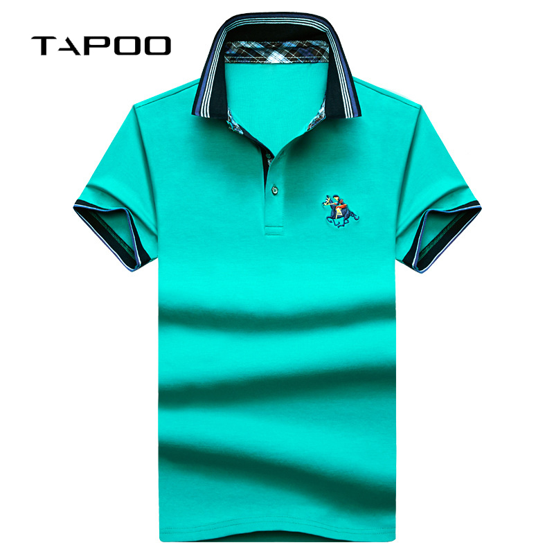2019 New Men's Summer Casual   Polo   Shirts Solid Fashion Embroidery Business High Quality Cotton Short Sleeve Men Plus Size 4XL