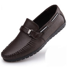 d78a883021f Men s Genuine Premium Leather Casual Loafer Slip on Shoes Handmade Mens Cow Moccasins  Driving Shoes Yellow