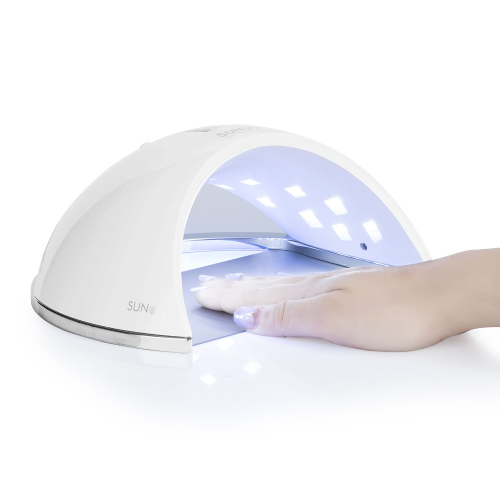 SUNUV SUN6 UV LED Nail Lamp 48W Smart Nail Dryer For Curing Nail Gel Polish New Fashion Nail Art Tools sunuv 6w uv led lamp nail dryer white