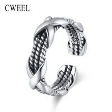 cweel rings for women luxury 925 sterling silver double - Steampunk Wedding Rings
