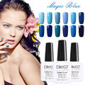 Elite99 LED Gel UV Blue Color Gel Nail Polish Long-lasting Blue Series Nail Gel Soak Off UV LED Polish Gel Lacquer 10ml/Pcs