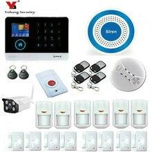 YobangSecurity IOS Android APP GSM WIFI GPRS RFID Home Burglar Alarm Security System With Waterproof Outdoor WIFI IP Camera
