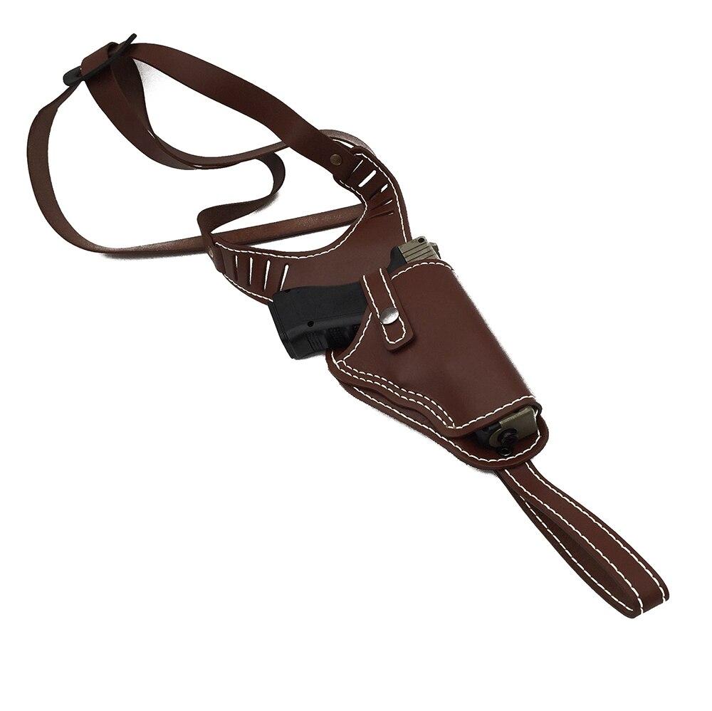 Accessoires étui à pistolet tactique Glock en cuir véritable épaule main droite Airsoft pistolet ceinture étui Glock pistolet chasse