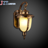 M E27 2kg Antique Brass European Retro Elegant Wall Lamp Metal Lamp Body Marble Lampshade Dia25*H42cm For Living Room Bedroom