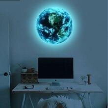 Hot sale 1PCS new Luminous blue earth Cartoon DIY 3d font b Wall b font font