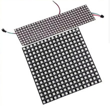 LED Module Strip WS2812B  Digital 5050 RGB Dream Color Programmed Addressable 64 Pixels 256 DC5V 8*8cm 8*32cm 16*16cm