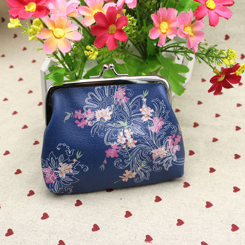 YOUYOU MOUSE Fashion Flower Printing Lady Change Purse Women's Coin Purse Patent Leather Coin Wallet Female Money Bag Wallet youyou mouse 1pc fashion men