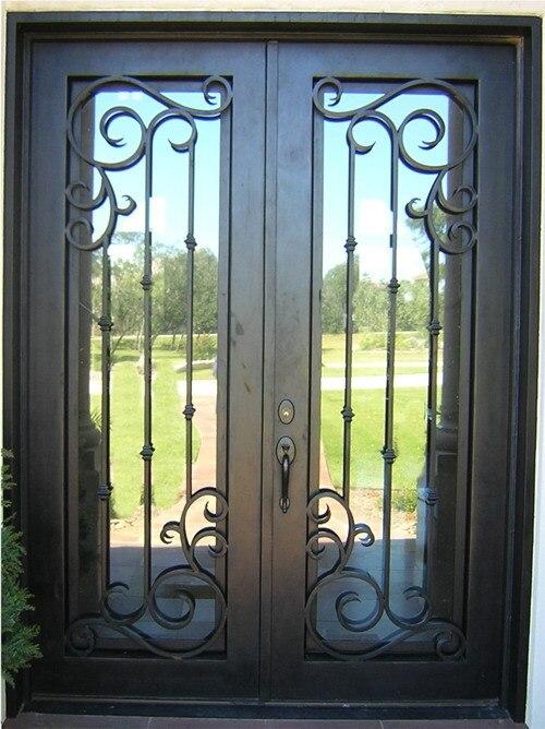 Best Selling Double Wrought Iron Doors Interior Doors Tcd 0176 In