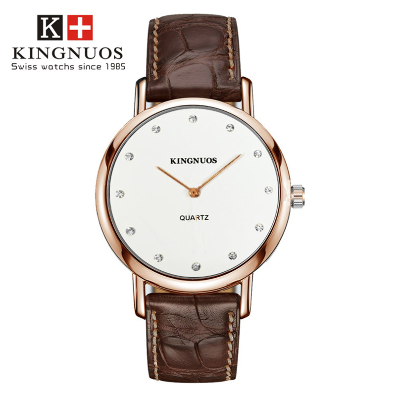 Reloj Hombre Men Simple Fashion Quartz Watch Casual Couples Leather Watches Diamond Double Needle Waterproof Wristwatch Hot Sale reloj hombre wishdoit quartz watch men