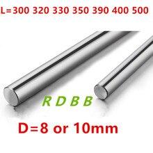 Eixo óptico 300 320 330 350 390 400 500 mm hastes lisas 8mm 10mm peças endurecidas cromadas cnc impressora 3d