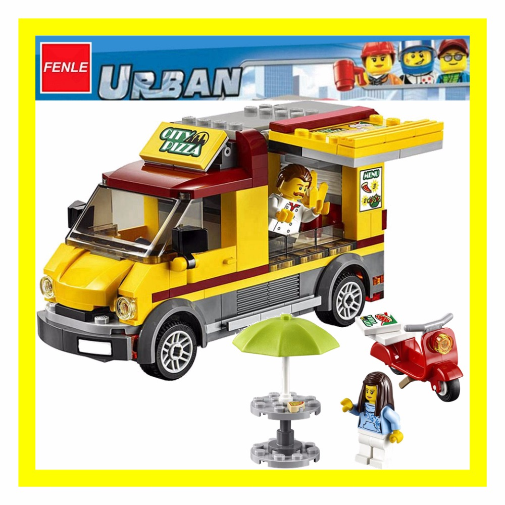LEGO 60150 City Great Vehicles Pizza Van and Scooter Building Set Rare Set New