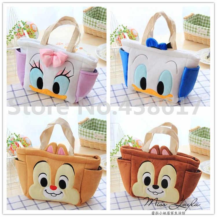 ЦУМ плюшевый Tsum коробка-сумка для обеда для Микки, Минни, Дональд чип и Дейл Дамбо белоснежная принцесса стежка Детская сумка сумки