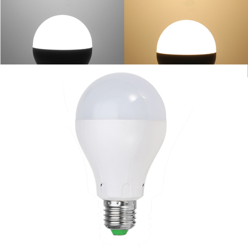 New Arrival LED Lamp Bulb E27 4W 7W Radar Sensor Lights Control LED Light Bulb AC220V/110V For Home Porch Pure White Warm White