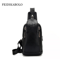 FEIDIKA BOLO Brand Bag Men Chest Pack Single Shoulder Strap Back Bag Leather Travel Men Crossbody