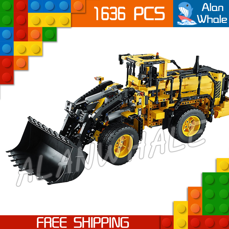 1636pcs Techinic Series Remote Controlled L350F Wheel Loader 20006 DIY Model Building Kit Blocks Gifts Toys Compatible With lego 720pcs techinic 2in1 motorized container
