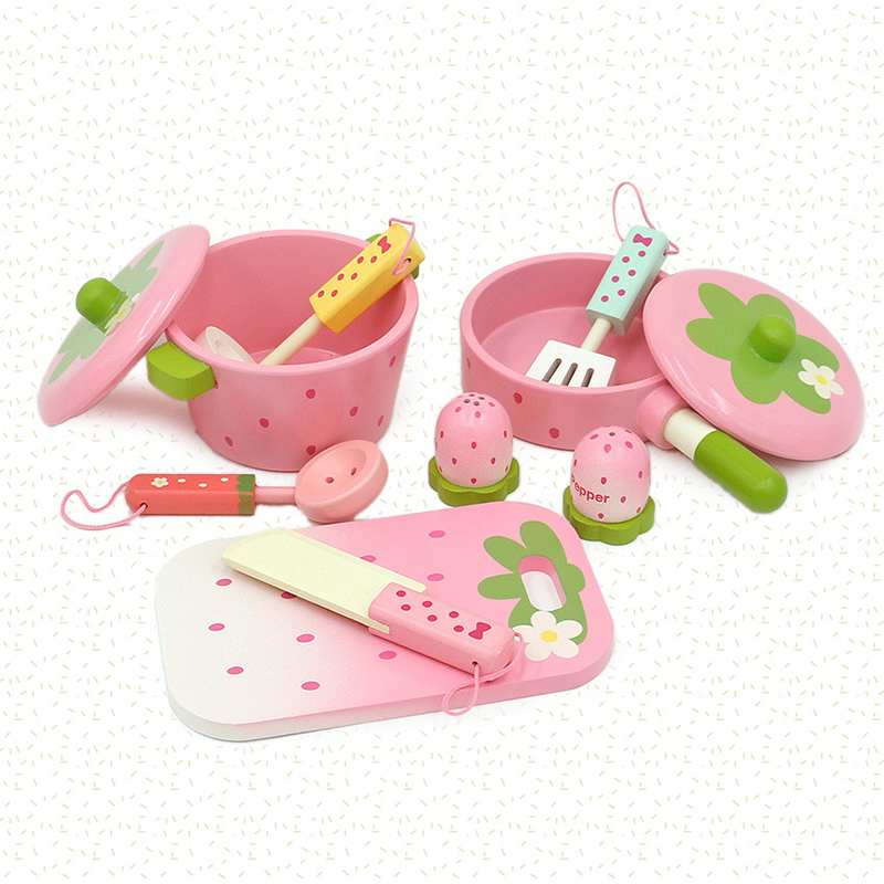 Baby-Toys-Pink-Wooden-Toys-Kids-Pretend-Play-Cooker-Toys-Play-Kitchen-Accessory-Set-Saucepan-Stewpot (3)