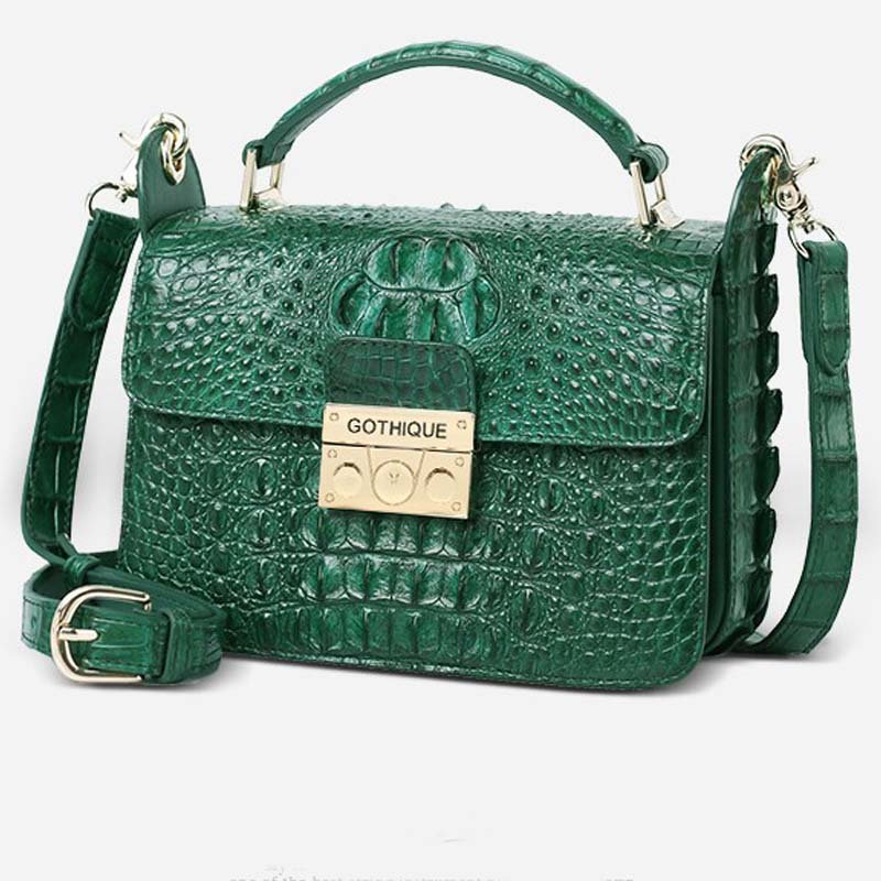 Gete new crocodile handbag inclined shoulder bag leather female bag shoulder bag