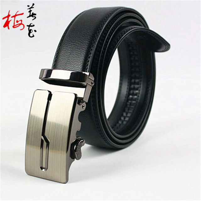 New Designer Plus Size 130cm Long Automatic Buckle Men'S Genuine Leather Belt, Black / Brown 12 Style Brand Men Belts Male Strap