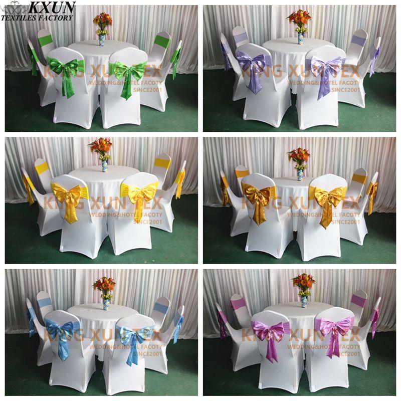Lycra para silla, de Spandex banda con satén arco para banquete de boda, decoración de cubierta de silla Moderno de algodón de mantel de lino impermeable cuadrado fiesta banquete mantel para exteriores de Color sólido mantel NAPE de superposición