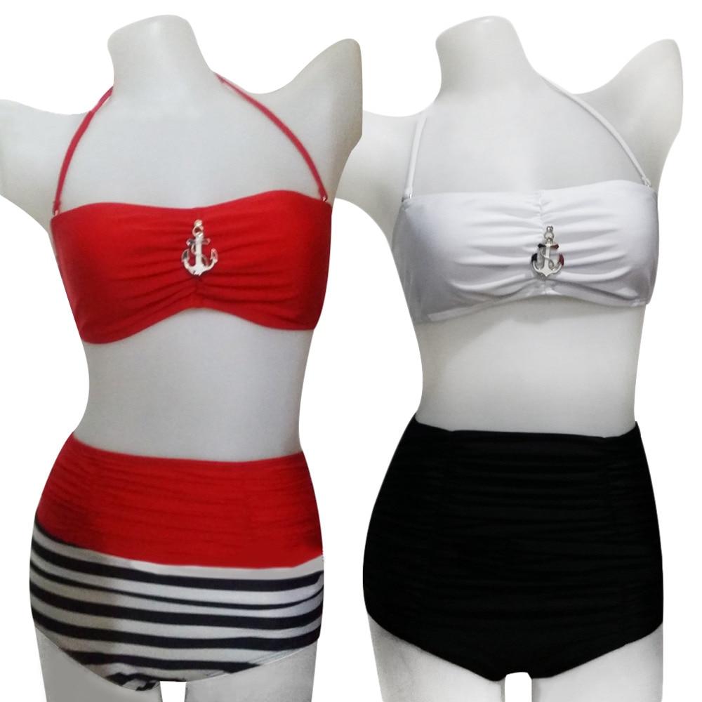 HWSales Promotion Summer Lady Sexy Pierced Halter Split Bikini Swimsuit Swimwear Beach Spa pierced