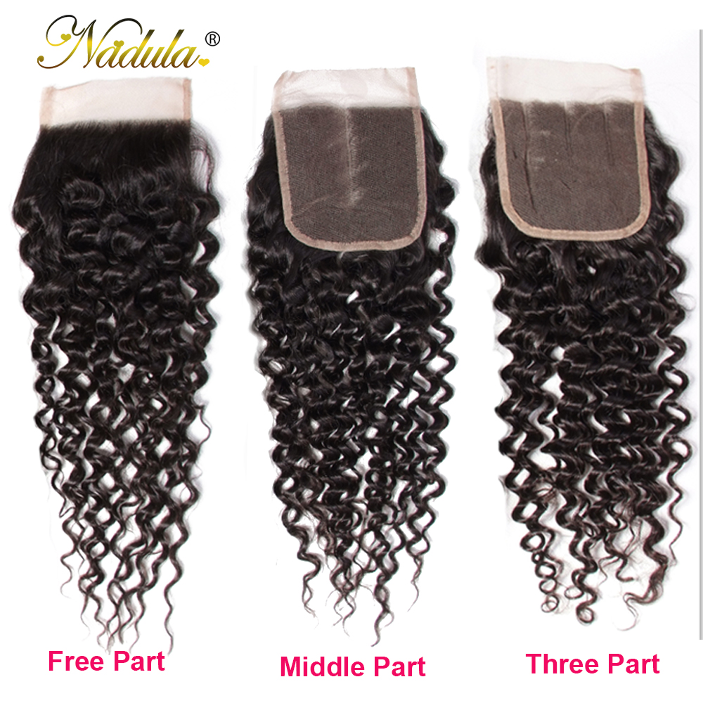 Nadula Hair 3 Bundles With 2Pcs Closures  Curly Hair With Closure 100%   With Lace Closure 4