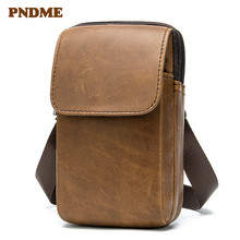 Leather vintage outdoor satchel men's cowhide single-shoulder bag clamshell satchel cross-body bag недорого