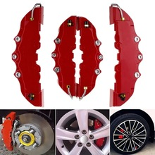 ABS Plastic Truck 3D Red Useful Car Disc Brake Caliper Covers Front Rear Auto Kit Car Styling gas mini dirt bike rear front disc brake caliper kit 140mm rotors electric scooter atv
