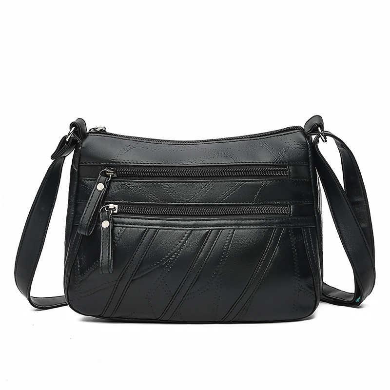 النساء حقائب كتف جلد طبيعي الإناث أكياس للسيدات Crossbody أكياس الفاخرة مصمم حقيبة يد عالية الجودة 2019