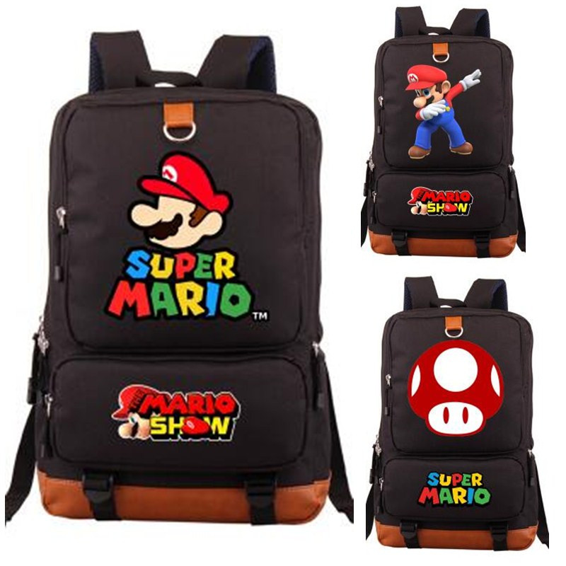012db927e2d4 Japan Super Mario Bros Backpack Game Bag Students Book Laptop Shoulder  Travel Bag Cartoon Cosplay