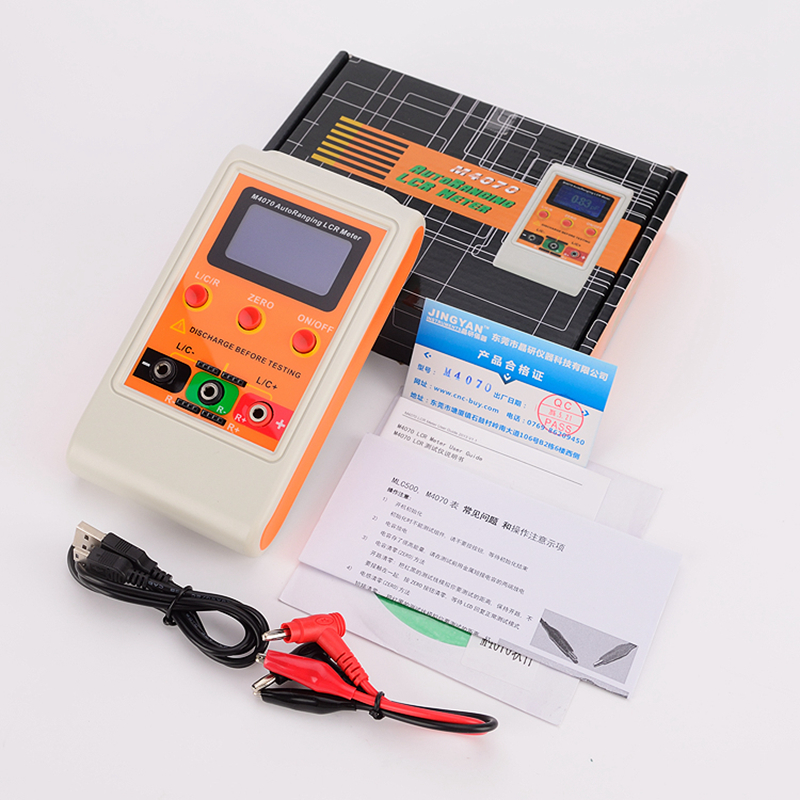 Portable Digital LCR Meter AutoRange Component Capacitance Inductance Tester Large LCD Display USB Charge LCR Tools Data Record