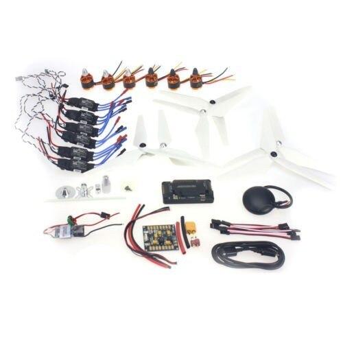 F15843-I Necesidad kits para 6-Aix Drone RC Heli 920KV Motor + 30A ESC + 9045 3-Props + APM2.8 + GPS para 550 Kits de Avión Multi-Rotor
