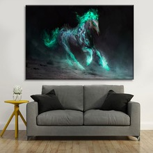 Fantasy Artistic Abstract Horse Animal Poster Modern On Canvas Printing Type And The Wall Decorative 1 Piece Style Picture