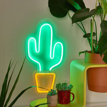 Fashion Colorful Neon Lights Sign USB Powered Cactus Ice Cream Night Girls Heart Wedding Holiday Party Decoration