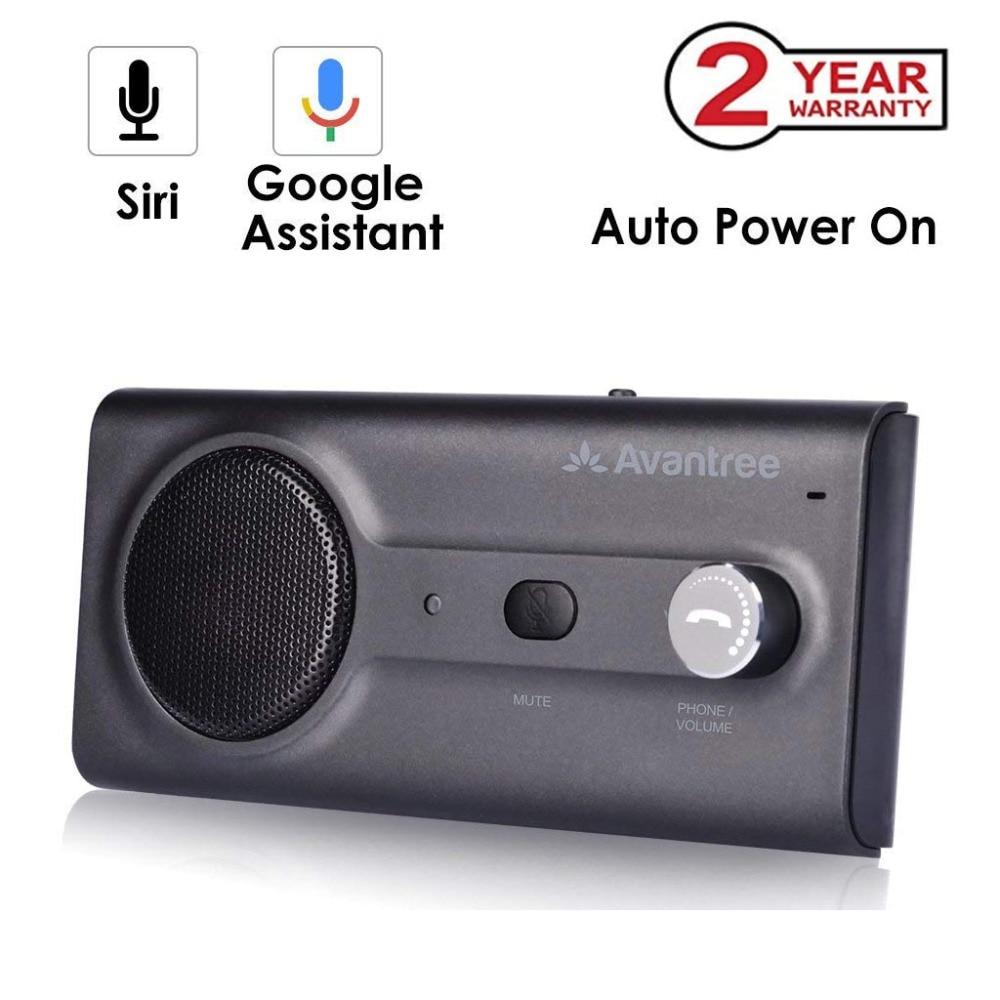 Kit Mãos Livres Bluetooth Carro Viseira 2018NEW com Siri, Assistente do Google Voice Command, auto Poder de voz Sem Fio No Carro