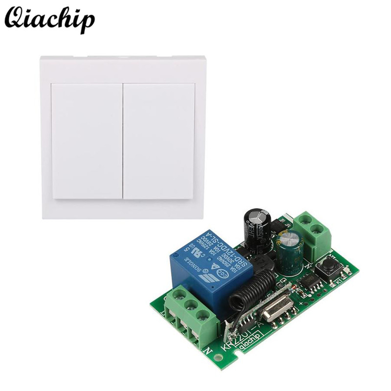 433 Mhz Remote Control Switch 86 Wall Panel Transmitter and RF Receiver For AC 110V 220V Ceiling Lamp Light Wireless Control DIY mini stable 10a 220v 1ch rf remote control switch system for led bulb light strips receiver 86 wall panel transmitter
